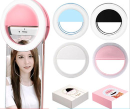 Wholesale Mobile Flash Light - Manufacturers rechargeable LED flash beauty supplement Selfie outdoor self-timer ring light all mobile phones