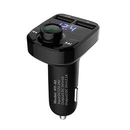Wholesale Usb Modulator For Car - Car Kit Bluetooth FM Transmitter Car MP3 Audio Player FM Modulator Handsfree LCD Display Dual USB Charger for Smartphone New