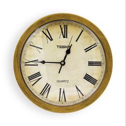 Relógio de parede de segurança on-line-Retro Relógio De Parede De Ouro De Quartzo Seguro Segredo de Segurança Stash Criativo Relógio Do Vintage Caixa De Armazenamento De Jóias De Segurança