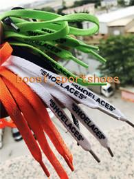 Canada SHOELACES pas cher bas noir vert orange Custom 4 couleur off chaussures lacet lacet créateur de chaussures lacet Longueur 1-1.2m Offre