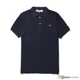 2018 Nouveau mode COM en gros Nouveau AAA Qualité Bleu Rouge coeur DES GARCONS PLAY Polo Noir T-Shirt Taille M Fabriqué Au Japon Junya Homme Plus ? partir de fabricateur