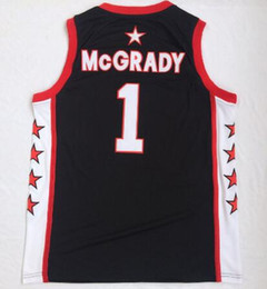 Chemise noire pour hommes pas cher en Ligne-Discount 2018 Nouveaux hommes Mont Mont Mont Zion Christ College 1 McGrady Black Basketball Jerseys Shirts Tops, Entraîneurs Basketball Jerseys Tops
