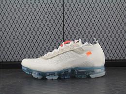 Wholesale B Patches - 2018 Mens Running Shoes For Trainers Women Sports Shoes Soft Vapor Wave Male Shoe Black Classic OW2.0 Designer White Orange Patch Shoe