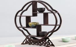 Canada Bois massif Sculpture Décoration Décoration Ming et Qingwei Miniature Meubles Modèle Affichage Antique Trésor Multicouche En Bois Cadre Cadeau Pr Offre