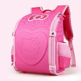 Olá kitty bolsas para crianças on-line-Olá Kitty Escola Mochila Crianças Mochilas Escolares Para meninas crianças Saco kit Mochila EVA Mochilas Ortopédicas mochila escolar Bolso