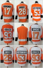ddb8f7337 2018 Philadelphia Flyers Hockey Jerseys 28 Claude Giroux 53 Shayne  Gostisbehere 17 Wayne Simmonds 93 Jakub Voracek 19 Nolan Patrick Jerseys