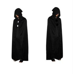 Manteau diable noir en Ligne-Cape d'Halloween Grim Reaper Death Devil Cape à capuche Cape Noire Death Costume Cosplay 170cm