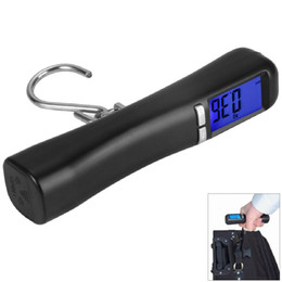 Wholesale lcd luggage scale - New Brand 1pc High Quality LCD Backlit 40Kg Travel Portable Lage Baggage Suitcase Bag Weight Digital Weighing Hook Scale
