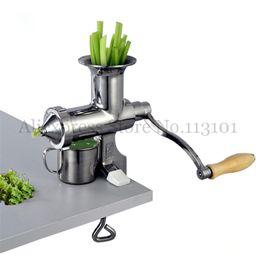 Canada Juicer d'herbe de blé d'extracteur de jus avec la presse-agrumes de rendement élevé de jus 304 # l'outil manuel de Juicing d'acier inoxydable plein Offre