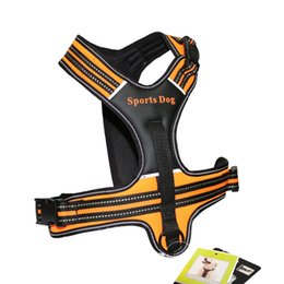 Wholesale dog pull harness - New Dog Collars Leather Pet Dog Harness Pulling Training Chest Harness Large Dog Sport Working Dogs Fit For Husky Pitbull