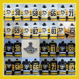 Wholesale Hockey Black Ice - 2018 Stanley Cup Pittsburgh Penguins 87 Sidney Crosby 66 Mario Lemieux 30 Matt Murry 71 Evgeni Malkin 81 Phil Kessel Guentzel Jerseys