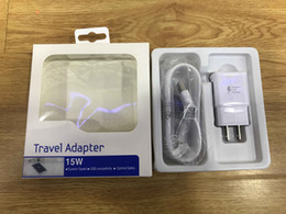 Wholesale Data Wall Box - US EU Travel Fast Wall Charger + Original 1.5M Micro Usb Data Cable For Samsung S6 Edge Note 4 5 With Retail box