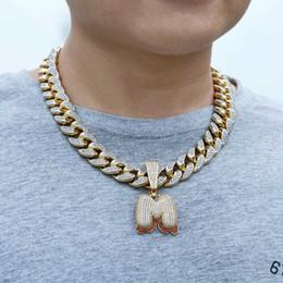 billige damen zubehör großhandel Rabatt Iced Out Mann Anhänger Hip Hop Gold Kette für Mann Schmuck Herren Halskette Zubehör Edelstahl keine Kette High Grade mit Zirkon Schmuck