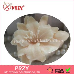Wholesale rubber soap molds - Silicone mold handmade lily shape flower mould chocolate soap molds for cake decorations clay molds aroma stone moulds