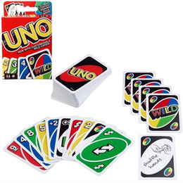 Wholesale playing free poker - Fashion Card Games UNO Entertainment Board Standard Fun Poker Playing Cards Parent Child Game Free Shipping 2 2zy WW