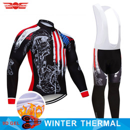 b710ef058 Crossrider 2018 USA Winter Thermal Fleece Cycling Jersey Set MTB Bike  Clothing Ropa Ciclismo Mens Cycling Wear Bicycle Clothes usa cycling  jerseys on sale