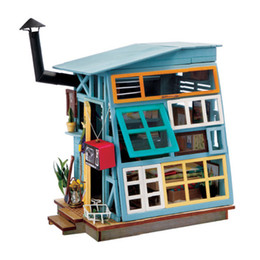 Wholesale Mini Dolls For Dollhouse - DIY Doll House Miniature With Furniture Art House Creative Wooden Mini Dollhouse Gift Toys Model For Kids Floating Life DGM03