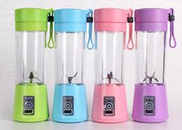 Canada 380 ml 4 lames Personal Blender Portable Blender USB Juicer Cup Électrique Juicer Bouteille Fruits Légumes Outils 6 Couleur Offre