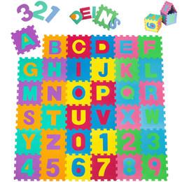 Wholesale foam puzzle mats - Children's Floor Mats Kids Play Mats Eva Large Foam Floor Alphabet Childrens Puzzle Mat Tiles Numbers