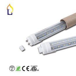 (15pcs / lot) chip de SMD2835 40W 48W 60W 4 pés 5 pés 6 pés 8 pés tubo levou lâmpada de iluminação Frete grátis AC85-265V T8 LED V Luz do tubo de Fornecedores de comercial sinais de néon por atacado