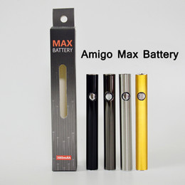vaporizador de bateria ajustável Desconto 510 Bateria de Tópicos Amigo Max Pré-aquecimento Canetas de Tensão Ajustável com Micro-USB Carregador 380 mAh Vape Cartucho de Bateria Vaporizador Caneta Baterias