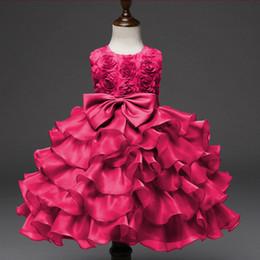Canada Explosions de commerce extérieur robe enfants robe arc robe rose robe de princesse jupe fleur enfants Offre