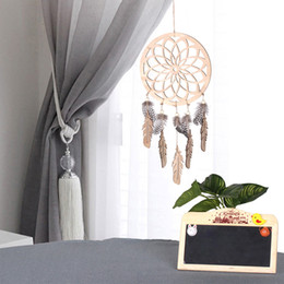 2019 macchine artigianali in legno Ciondolo auto Scultura in legno Dream Catcher Retro Art Craft Home Ornament Auto O specchietto retrovisore Hanging Decoration Accessori regalo macchine artigianali in legno economici
