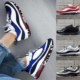brand new 549ea 53003 Nike Air Max 98 Running shoes Nuovo modo di arrivo max 98 Gundam Sport  Scarpe da corsa per uomo 98s Bianco Blu Rosso Nero Outdoor Athletic  Sneakers supporto ...