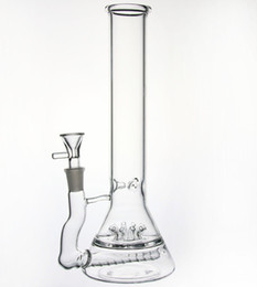 """Wholesale glass blowing pipes - New 11""""inch Glass bong Thick In-Line 10 Sprinkler Water Pipe hand blown glass bubbler glass water pipe new Sprinkler Perc"""