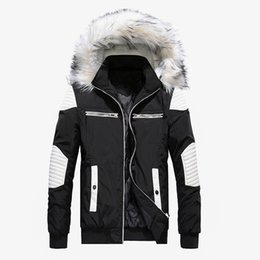 yellow jacket windbreaker Coupons - Brand New Winter Jacket Men Casual Fur Collar Thick Warm Parka Coats Cotton-Padded Windbreaker Outwear Jackets Men Parkas Hombre