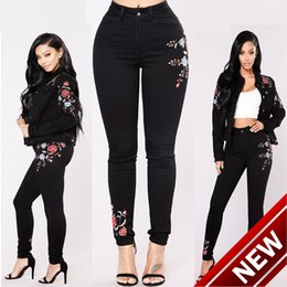 Wholesale Embroidered Dresses For Women - 2018WISH Black Holes Embroidered Elastic Force Cowboy 0775 female men silver shirts for women woman dresses suspenders slimming pant