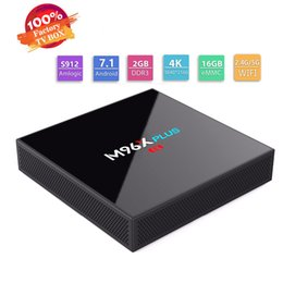 Wholesale core ac - On sale OEM S912 Android TV Boxes M96X Plus 2GB 16GB tv box Android 7.1 OS Dual AC WiFi BT4.0 1000M Lan smart tv media players