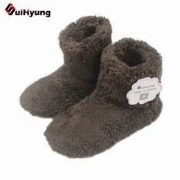 Wholesale Booties Shoes For Men - New Winter Warm Cotton-padded Shoes Skid Soft Bottom Indoor Home Shoes Warm Plush Indoor Boots For Men And Women Floors