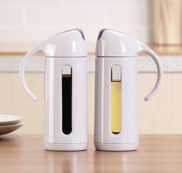 garrafas de vinagre de azeite Desconto Dispensador de óleo De Azeite De Vidro Garrafa De Vinagre De Soja Molho de Óleo Pourer para Cozinhar Ferramentas De Cozinha