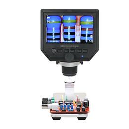 loupe portable à microscope numérique Promotion nouveau microscope chaud de 600X 3.6MP Digital Microscope LED Loupe pour le microscope de téléphone portable avec le stent d'alliage d'aluminium 4.3 pouces HD OLED