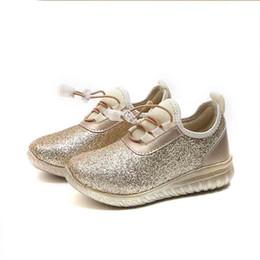 Девочки блеск инструкторов онлайн-обувь для девочек 2018 весна осень дети кроссовки дети бег блеск повседневная обувь спортивная кожаная обувь принцесса тренер