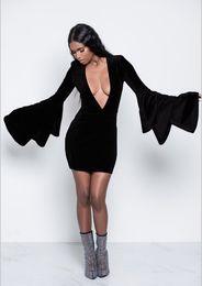 Kadınlar Seksi Derin V Elbiseler Moda Yeni Parti Gece Kulübü Seksi Mini Elbise Katmanlı Kollu Elbise nereden