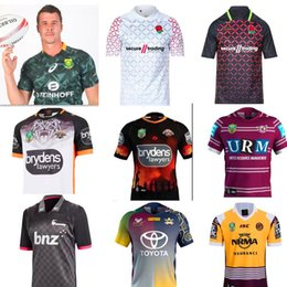 Wholesale Manning Broncos - NRL Jersey England rugby shirt 18 19 WESTS TIGERS AWAY JERSEY Fiji Melbourne bronco NRL National Rugby League Australia shirts