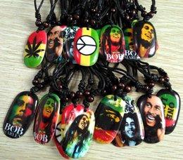Wholesale Mens Rope - 20pcs Bob Marley Pendant Necklace Mens Hip top Styles necklace 10 design Mix Punk Fashion Jewelry Wholesale Lots