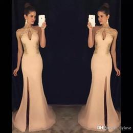 2019 vestidos de noite do vintage do céu azul Sexy longo vestidos de baile sereia princesa africana lado dividir mangas formal vestidos de noite com vestidos de renda