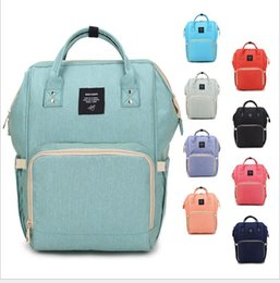 Wholesale new baby diapers - 18 Colors New Multifunctional Baby Diaper Backpack Mommy Changing Bag Mummy Backpack Nappy Mother Maternity Backpacks