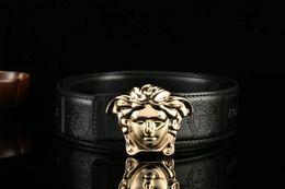 Wholesale Men Belt Buckles Western - 2017 Brand belt for men and women fashion luxury belts Designer Cowhide Luxury oxblood men western belt jewelry 32 waist free shipping