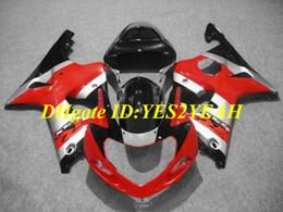 carenado gsxr rojo negro plata Rebajas Kit de carenado de motocicleta para SUZUKI GSXR1000 K2 00 01 02 GSXR 1000 2000 2001 2002 ABS Rojo plata negro Carenados + Regalos SM06