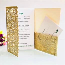 Peças de convites de casamento on-line-50 Peças Conjunto Completo Convite de Casamento Hotel De Cinco-estrela Evento Comercial de Grande-escala Oco Cartão Colorido