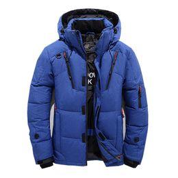 2018 Chaqueta de invierno para hombre Nueva moda grueso con capucha cuello de piel Parka hombres abrigos casual acolchado chaquetas de los hombres ropa masculina desde fabricantes
