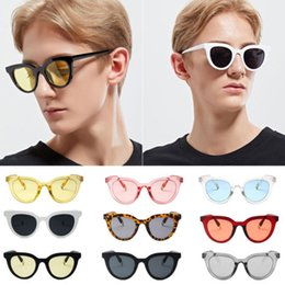d9a7d8ee23 2018 Fashion Retro Men Women Shades Glasses Sunglasses Cat Eye Round Transparent  Sunglasses Beach Eyewear Unisex UV400