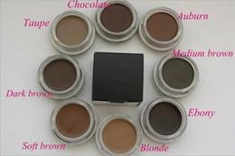 2019 plantilla de polvo de ceja Nueva ceja Pomada Ceja Mejoradores Maquillaje Ceja 8 colores con paquete al por menor envío gratis DHL