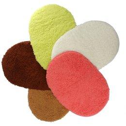 Tapetes oval on-line-Novo Design Tapetes de Banheiro Absorvente de Memória Macia Capacho Tapetes de Chão Oval Antiderrapante Tapetes de Banho Tapete Liso