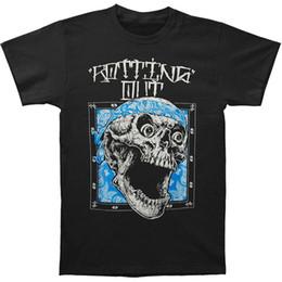 abbigliamento da stampa bandana Sconti Rotting Out Skull Bandana T Shirt Uomo Nero 2018 Marchio di abbigliamento Tees Casual Top Tee Moda Uomo T-shirt stampate