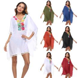 8be017b4dacea New Women Lace Tassel Cover Up Flower Hollow Out Shawl Kimono Cardigan  Dress Casual Crochet Lace Chiffon Swimwear Blouse Clothing